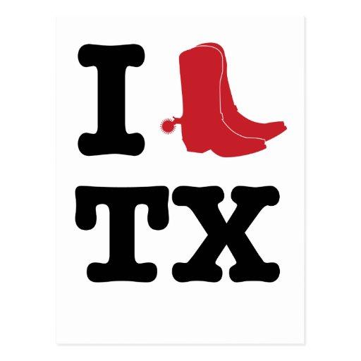 I love Texas Postcards