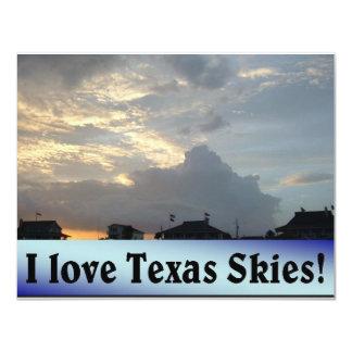 I Love Texas Skies! 4.25x5.5 Paper Invitation Card