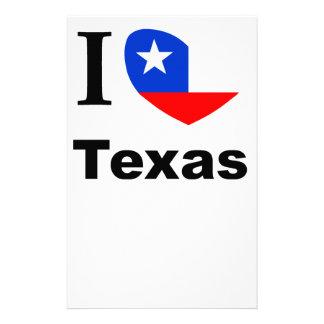 I Love Texas Stationery