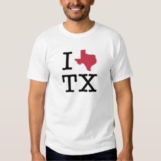 I Love texas Tee Shirt