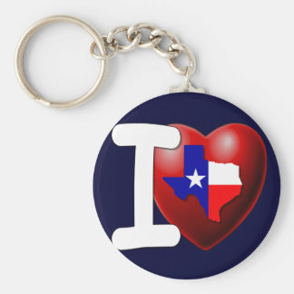I Love Texas - The Lone Star State Keychain