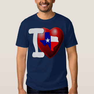 I Love Texas - The Lone Star State Tee Shirt