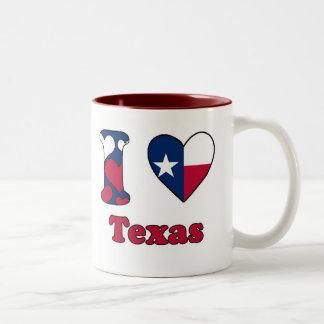 I love Texas Two-Tone Coffee Mug