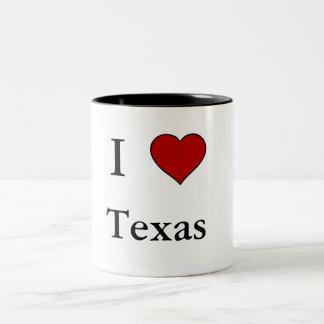 I Love Texas - Two-Tone Mug