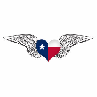 I Love Texas -wings Cutout