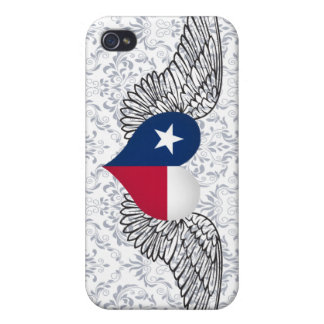 I Love Texas -wings iPhone 4 Case