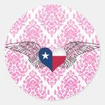 I Love Texas -wings Sticker