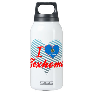 I Love Texhoma, Oklahoma 10 Oz Insulated SIGG Thermos Water Bottle