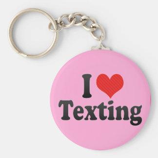 I Love Texting Key Chain