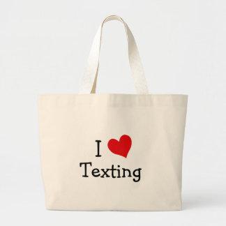 I Love Texting Large Tote Bag