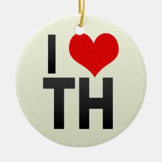 I Love TH Ornament