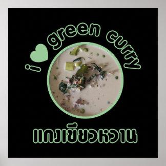 I Love Thai Green Curry ... Thailand Street Food Poster