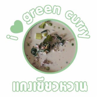 I Love Thai Green Curry ... Thailand Street Food Statuette