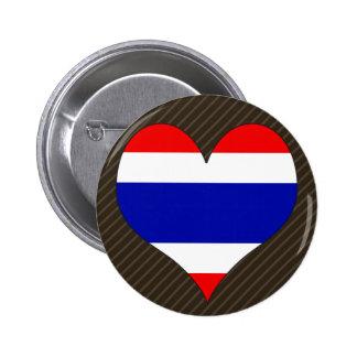 I Love Thailand Pinback Button