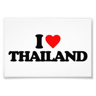 I LOVE THAILAND PHOTO PRINT