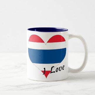 I love Thailand Two-Tone Coffee Mug