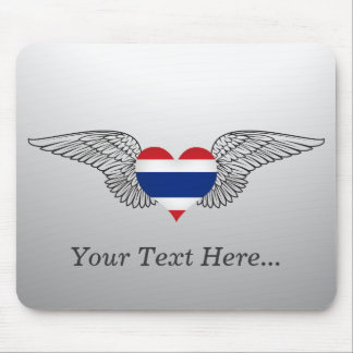 I Love Thailand -wings Mouse Pad