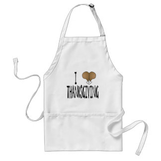 I Love Thanksgiving Adult Apron