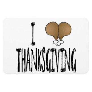 I Love Thanksgiving Rectangular Photo Magnet