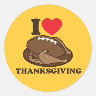 I love Thanksgiving Classic Round Sticker