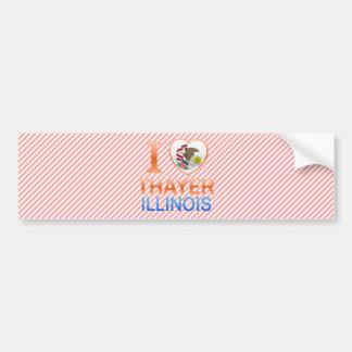 I Love Thayer, IL Bumper Sticker