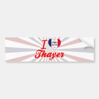 I Love Thayer, Iowa Bumper Sticker