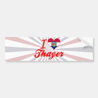 I Love Thayer, Missouri Bumper Sticker