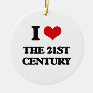 I love The 21St Century Double-Sided Ceramic Round Christmas Ornament