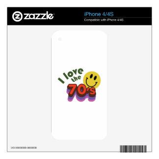 I Love The 70's iPhone 4 Skin