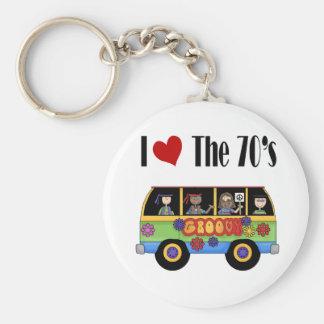 I love the 70's keychain