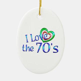 I Love the 70s Christmas Tree Ornament