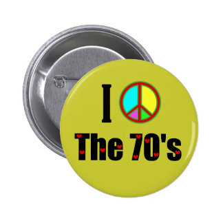I love the 70's Peace Sign Pinback Button
