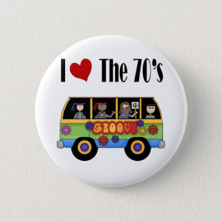 I love the 70's pinback button