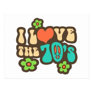 I Love The 70's Postcards