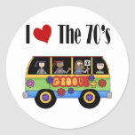 I love the 70's round stickers