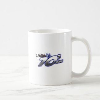 I Love the 70s Seventies 1970s MUSIC in 70s fan Classic White Coffee Mug