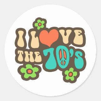 I Love The 70's Sticker