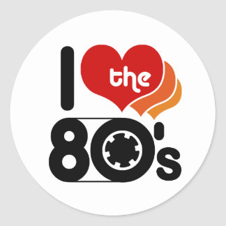 I Love the 80 s Stickers