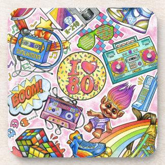 I love the 80s - 1980s Swag Coaster
