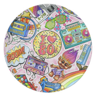 I love the 80s - 1980s Swag Plate