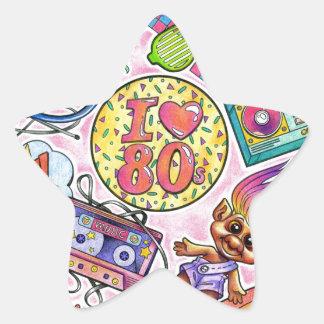 I love the 80s - 1980s Swag Star Sticker