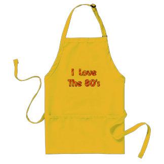 I Love The 80's Adult Apron