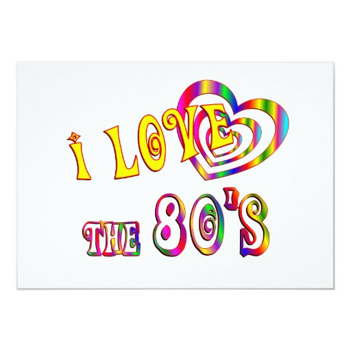 I Love the 80s Card