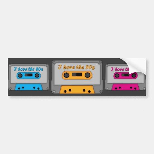 I Love The 80s (cassette) Car Bumper Sticker