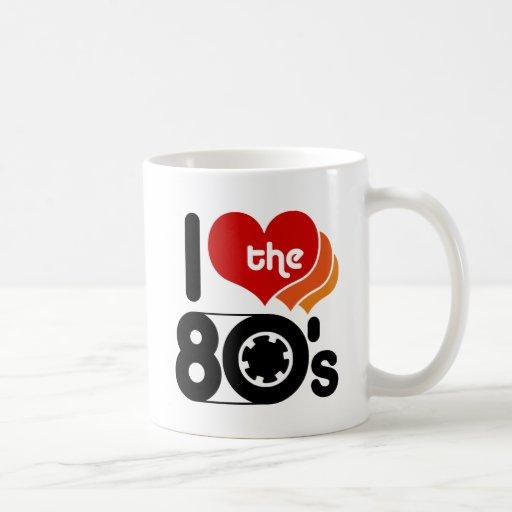 I Love the 80's Classic White Coffee Mug