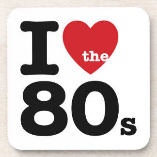 I Love the 80s Coasters