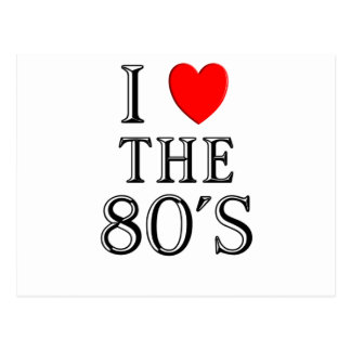 I Love The 80's Design Postcards