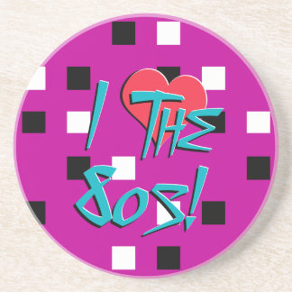 I Love The 80s! Drink Coaster