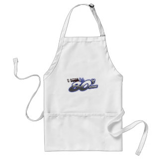 I Love the 80s Eighties MUSIC 1980s music fan Adult Apron