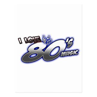 I Love the 80s Eighties MUSIC 1980s music fan Postcard